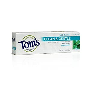 Tom's of Maine Clean and Gentle Care, Peppermint with Fluoride, 4.7 Ounce (Pack of 2)