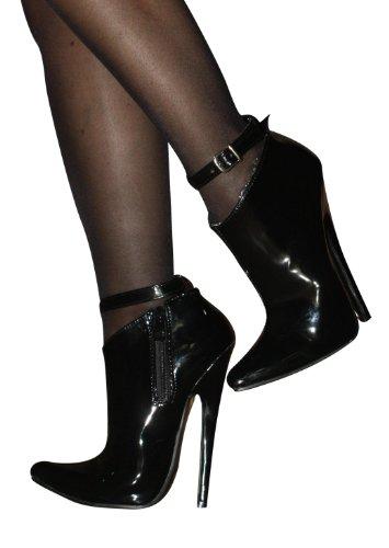 High-Heels-High-Heels-Pumps: EROGANCE Lack High Heels Stiefel Stiefeletten schwarz / 4616 EU 39