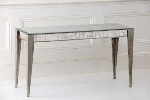 Cheap Notre Monde CTB5418-SL Bistro Console Table – Silver Leaf (CTB5418-SL)