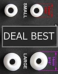 DEAL BEST Soft Silicone Earbud Eartip for Earphone Headphone Bluetooth headset 5 Blk, white pairs = 10pcs