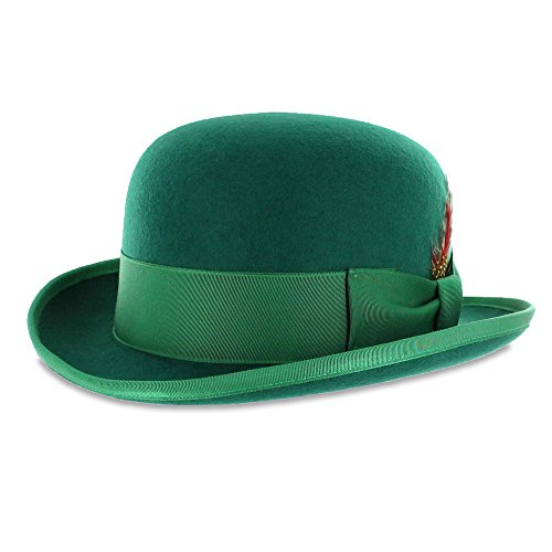 61157ea9b65 Belfry mickey irish green derby hat with feather and liner jpg 500x500  Green bowler hat