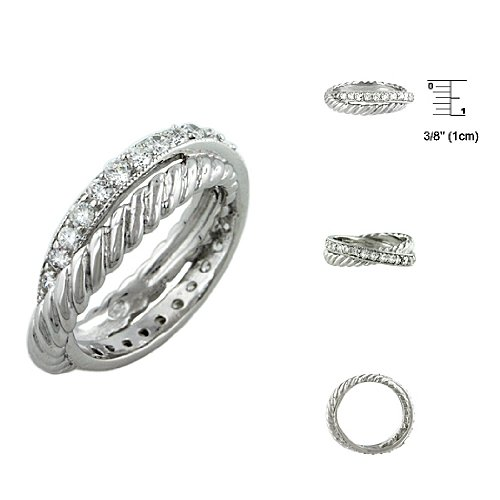 Sterling Silver Infinity Anniversary CZ Ring Size: 8