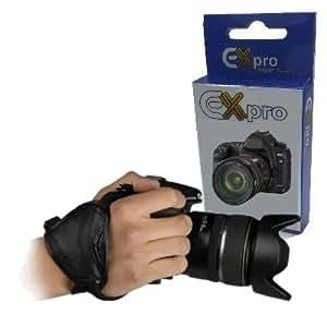 Ex-Pro ® Genuine Leather ergonomique stabilisation Dragonne Grip pour Canon EOS, Nikon, Sony Alpha, Olympus et Pentax reflex numérique