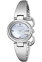 Gucci Women's YA134504 Guccissima Stainless Steel Diamond-Accented Bangle Watch