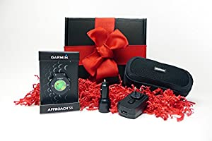 Garmin Approach S6 HOLIDAY GIFT BOX (+$50 REBATE) | Golf GPS Watch, Case, Wall & Car Charge Adapters (Dark)