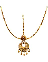 SatyamJewelleryNx Artificial Golden Matha Patti For Women Fashion Jewellery (Diwali Special)