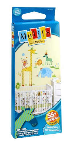 Motifs In A Minute Applique Peel and Stick Wall Decor, Jungle Animals - 1