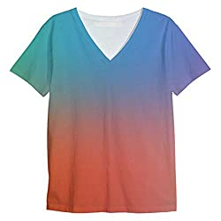 Snoogg Feel Alright Mens Casual V Neck All Over Printed T Shirts Tees