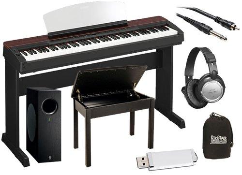 Yamaha p 155 88 key weighted action digital piano black for Yamaha dgx640c digital piano cherry