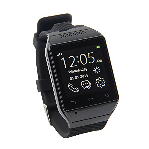 "Lemfo® S19 Bluetooth Smart Watch Phone 1.54"" Touch Screen Gsm Support Sim Tf Camera Smartwatch For Android Cell Phone Sync Sms Phone Book Call History App Notification (Black)"