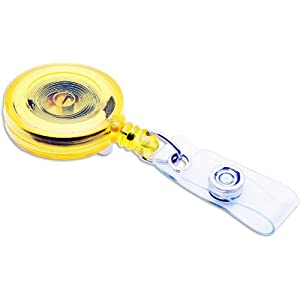 ID Card Reel-Translucent-Yellw Case Pack 600 ID Card Reel-Translucent-Yellw Case Pack 600,SICURIX,PRA25200871