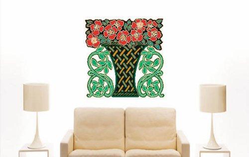 Imagen 2 de Etiqueta de la pared multicolor MF133 Bouquet plantación ornamento al tribal 120 x 119 cm