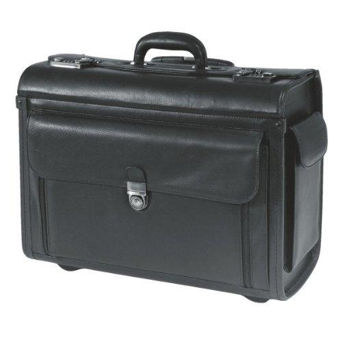 leitz trolley jupiter 60290095 pilot case leather black ebay. Black Bedroom Furniture Sets. Home Design Ideas