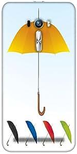 Snoogg Umbrellas Vector F Designer Protective Back Case Cover For Asus Zenfon...