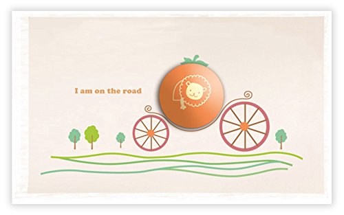 Dream Wall Wall Decal with Night Light, Pumpkin Carriage