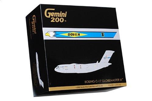 """1:200 ジェミニジェット 200 G2AFO250 マクドナルド ダグラス C-17A Globeマスター III ダイキャスト モデル USAF 436th AW #06-6165 """"魂 of"""