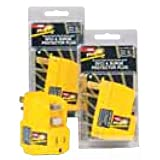 Plug-It Ground Fault Circuit Interrupter (GFCI) and Surge Protector Plug, 125 Volts, 15 Amps, 1875 Watts, Yellow Body, Use Anywhere GFCI Protection is Desired
