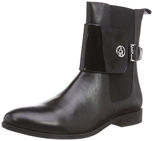 Armani Jeans Shoes & Bags DE B559923, Stivaletti Chelsea con imbottitura leggera, a mezza gamba donna, Nero (Schwarz (NERO - BLACK)), 41