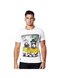 Breaking Bad - T-shirt Bad Lab tratta dalla serie TV - Ottima qualità di marca Chunk - Maniche corte - Bianco