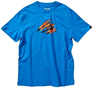 Emerica Kinder T-Shirt UP IN FLAMES, blue, M, 6330000334