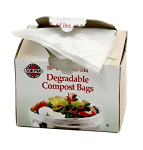 Norpro Degradable Compost Bags, 50 Pieces