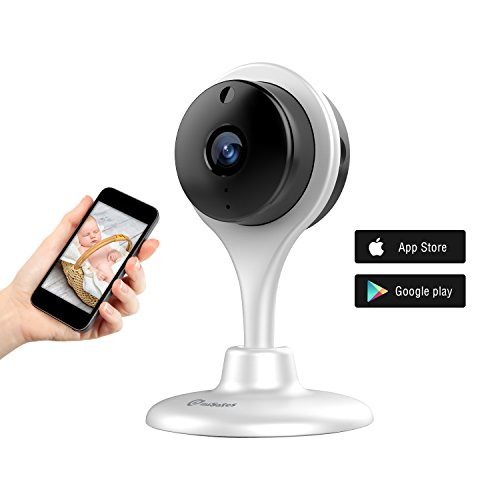 720P Hd notturna visione Day/ Night telecamera wireless Wifi Misafes Baby Monitor domestico Cam remoto casa guardia di sicurezza notturna con Audio di 2 modi per IOS Android iphone ipad Samsung Htc Lg Sony Google Nexus Bianco