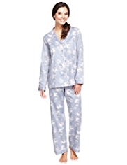 Pure Cotton Cool Comfort™ Revere Collar Pyjamas
