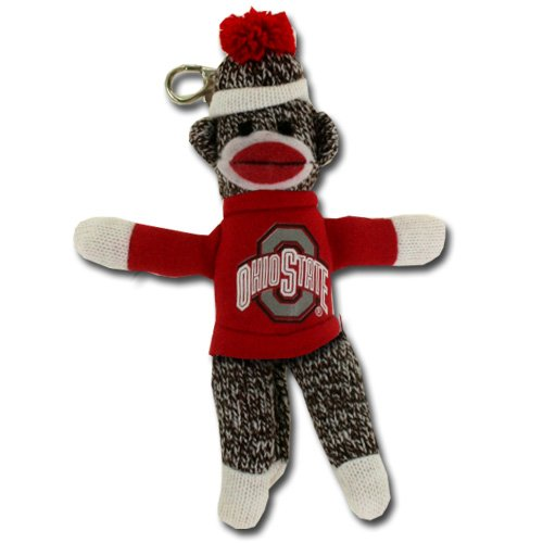 Plushland College Ohio State Buckeyes Sock Monkey Key Chain