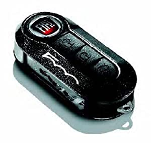 genuine new fiat 500 key cover in dark grey with 500 logo. Black Bedroom Furniture Sets. Home Design Ideas