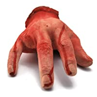 Halloween Scary Creepy Haunted House Yard Prop Bloody Severed Human Male Hand Ring Finger Choppered from Holiday Prop