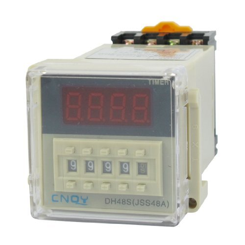 Water & Wood AC/DC36V SPST 8P 0.01S-9999H Timer Delay DIN Rail Time Relay DH48S-1Z w Socket with Car Cleaning Cloth chint nkg3 nkg 3 lcd microcomputer astro time switch sunrise sunset based on latitude din rail digital timer programmable relay