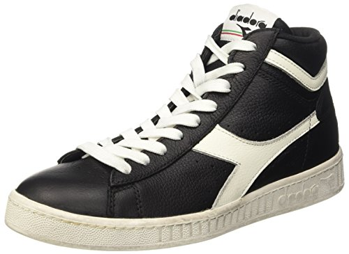 Diadora Game L High Waxed, Scarpe Low-Top Unisex Adulto, Nero (Nero/Bianco Nuvola), 42 1/2 EU
