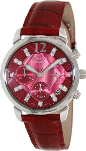 Casio Women's Sheen SHN5010L-4A Red Leather Quartz Watch with Red Dial