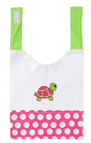 Turtle Design Canvas Baby Bib - 1