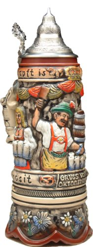 Beer Stein by King - Octoberfest Oktoberfest German Musical Beer Stein (Beer Mug) 1.0l Limited