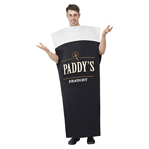 [GSG Beer Pint Costume Adult Guinness Funny Irish Halloween Fancy Dress] (Musketeer Sword Costume)