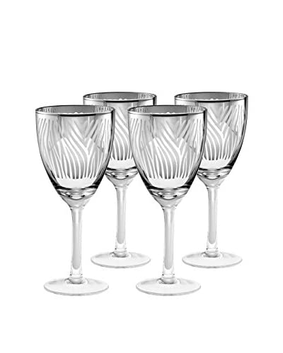 Artland Set of 4 Zebra 14-Oz. Wine Glasses, Silver