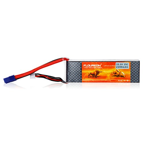 Floureon 3S 25C 11.1V 2200mAh Rechargable Li-Polymer Lipo RC Battery Pack with EC3 Plug Connector for RC Airplane RC Helicopter RC Car RC Truck RC Boat (Rc Car Lipo Battery Pack compare prices)