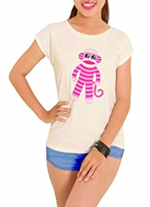 Vietsbay Women's Sock Monkey Printed T-shirt