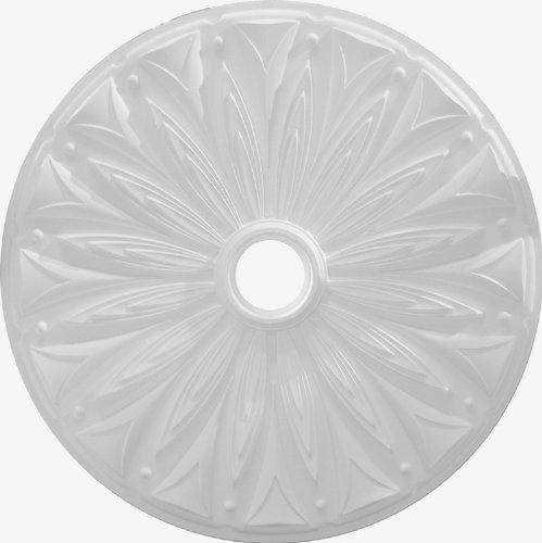 """Henta Rosetta Ceiling Medallion Paintable ABS Plastic (White, 36"""" diameter)"""