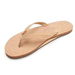 Rainbow Sandals Women\'s Premier Leather Single Layer Narrow Strap, Sierra Brown, Size 11/ X-Large
