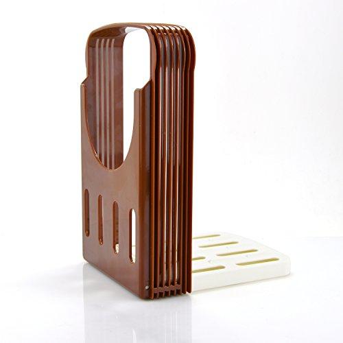Yummy Sam Foldable and Adjustable Bread Toast Slicer Bagel Slicer Loaf Sandwich Bread Slicer Toast Slice Cutter Mold with 4