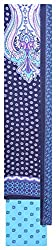 Mahek Fashion Women's Silk Unstitched Dress Material (Blue, White and Purple)