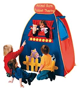 ANIMAL Barn pop up PUPPET Theater tent w/ Puppets INCLUDED by Schylling