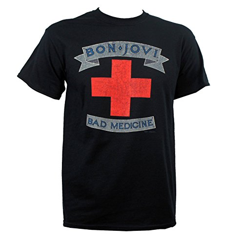 Jon Bon Jovi Men's Bad Medicine Distressed T-Shirt