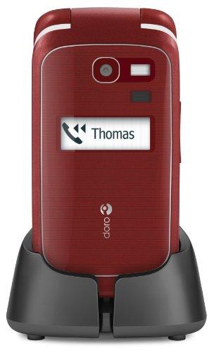 Doro PhoneEasy 615gsm Mobiltelefon (3,2 Megapixel Kamera,LCD-display, 3G, GSM) rot