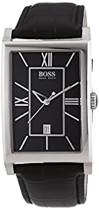 Hugo Boss - 1512385 - Gents Classic - Montre Homme - Quartz Analogique - Cadran Noir - Bracelet Cuir Noir