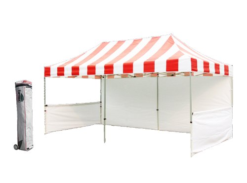 Eurmax Pre 10X20 Pop Up Party Tent Wedding Canopy Gazebo Booth With Roller Bag (Red|White) front-941071
