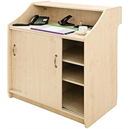 Deluxe Reception Counter 1000mm Maple Dimensions 1100(H) x 1000(D) x 600(D)mm