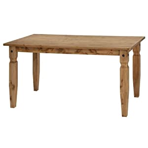 Corona Dining Table   Carved Legs Rectangular   Solid Pine   Waxed Finish       Customer reviews and more information